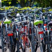 abgestellt Fahrräder