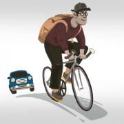 Fahrradfahrer (Grafik: Designed by Freepik)