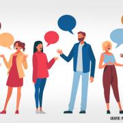Menschen im Gespräch / Grafiken: Designed by pikisuperstar / Freepik