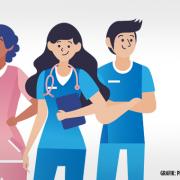 Krankenpflegekräfte (Grafiken Designed by pikisuperstar / freepik)