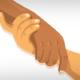 Grafik: Hände greifen einander helfend (Copyright: Freepik)